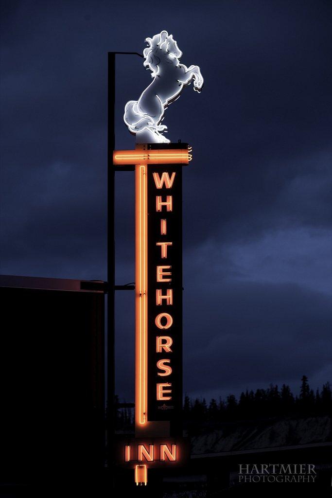 Whitehorse Inn Sign