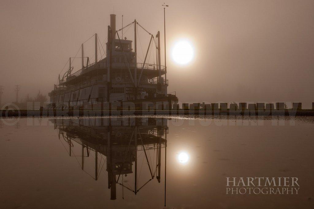 SS Klondike , foggy morning