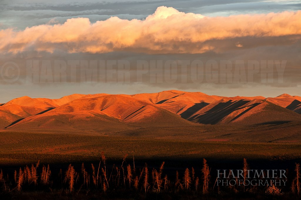 Northern Yukon sundown