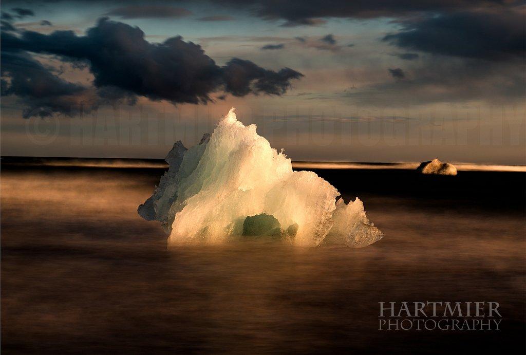 Iceberg at Jokulsarlon Beach