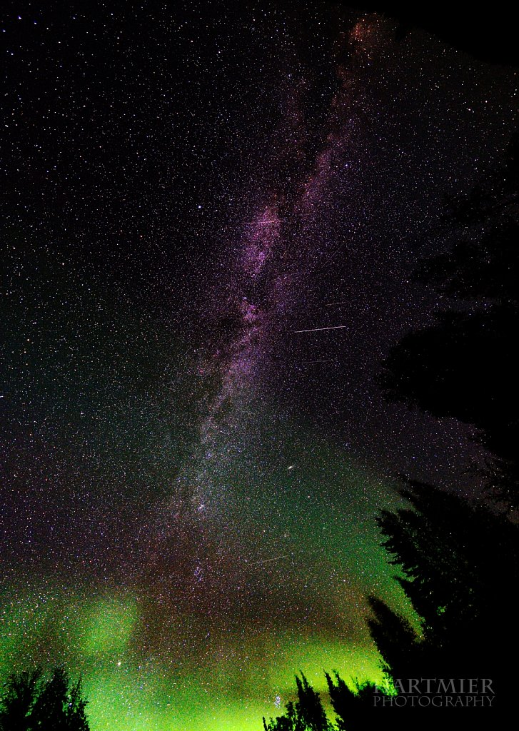 Milky way and Aurora, Yukon